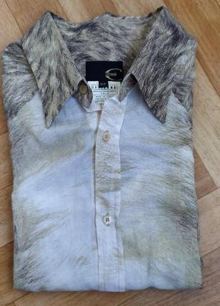 Коллекционная рубашка just cavalli lion print
