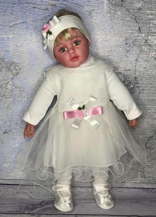 Крестильный набор, на выписку, нарядное платье для малышки