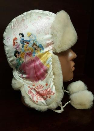 Шапка- ушанка зимняя для девочки
