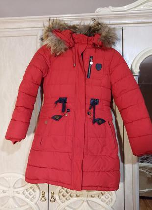 Пальто зимнее/парка/пуховик с натуральным мехом