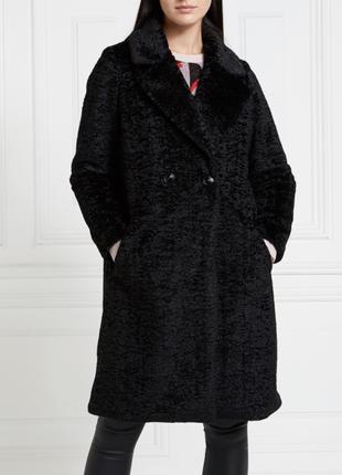 Классное женское пальто из искусственного каракуля от dunnes s...