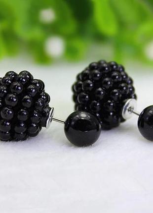 Серьги пуссеты черного цвета