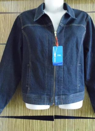 Куртка джинс dpdenim размер 16(44)– реально идет на 50-52+