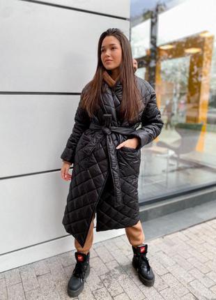 Пальто женское зима на силиконе/куртка с капюшоном