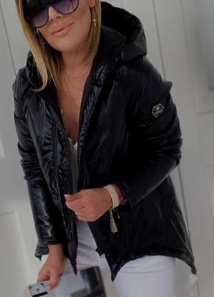 Куртка женская монклер деми на синтепоне короткая с капюшоном