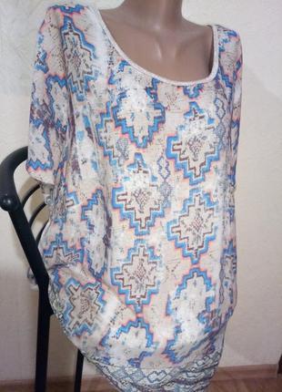 Р 22/ ..56-58 ..хорошенькая кофточка - футболка большой размер...