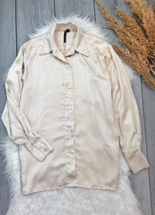 Topshop boutique  фирменная блузка 100% шёлк s 36 8 нежная баз...