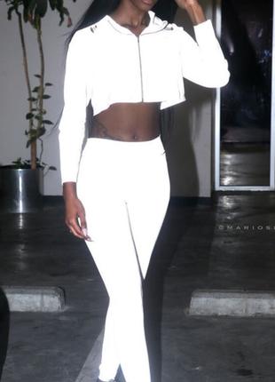 Рефлективный костюм, джоггеры+куртка, светоотражающая, reflective