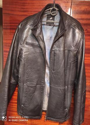 Осенняя куртка мужская, натуральная кожа