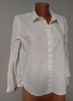 Котоновая рубашка ассиметричного кроя cos