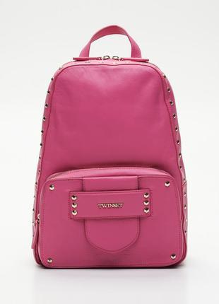 Новый кожаный рюкзак twin-set первая линия оригинал твин сет р...