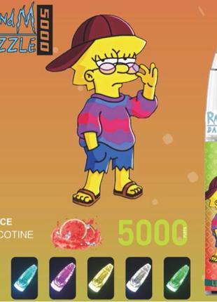 Одноразка RandM Dazzle 5000 Puffs Рик и Морти