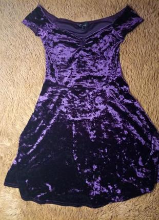 Красиве велюрове плаття/сукня/платье