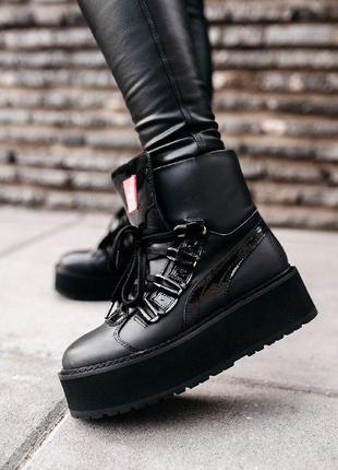 Шикарные женские  ботинки puma x fenty by rihanna sneaker boot...