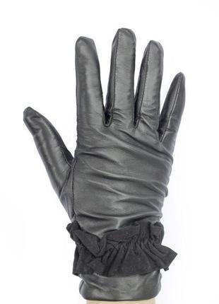 Женские перчатки из кожи ягненка