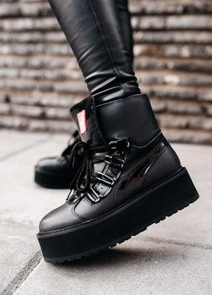 Puma x fenty by rihanna sneaker boot black женские демисезонны...