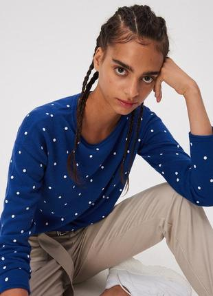 Новая длинная широкая синяя кофта джемпер польша прямой крой п...