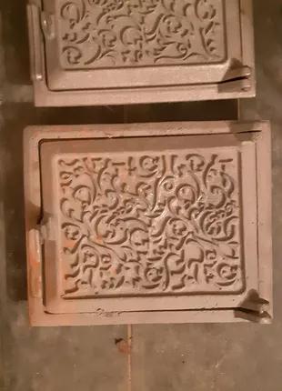 Дверцы чугунные для печи сажетруски