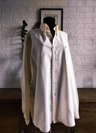 Рубашка мужская hugo boss, молочная, хлопок,р.xl