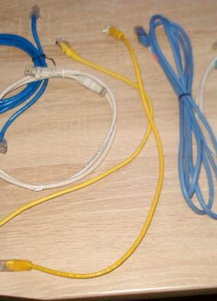 витая пара - плетена  пара, LAN кабель 8 жил.