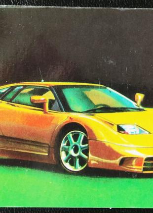 Календарик Bugatti EB110 - Бугатти, 1996
