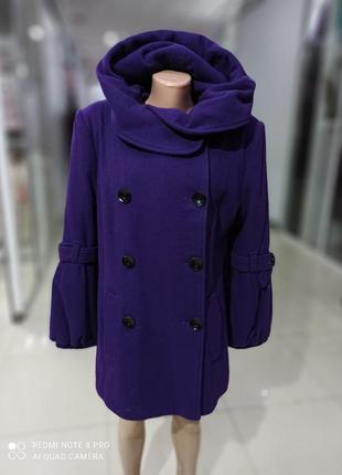 Зимнее женское пальто с утеплителем 50й размер