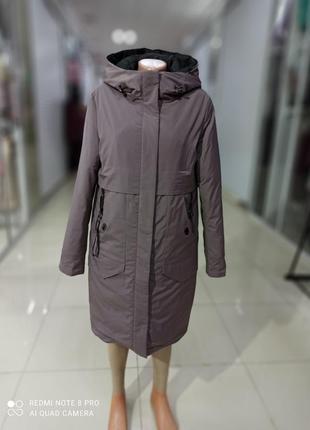 Теплая женская зимняя куртка пуховик на холофайбере