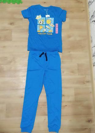 Штаны спортивные джогеры футболка костюм 134