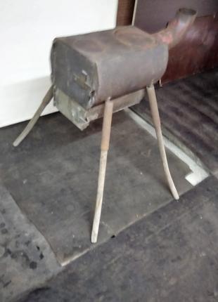 """Печь""""буржуйка"""" с баком для нагрева воды"""