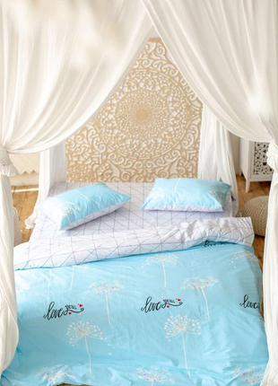 Комплект постельного белья prestige gold love бело-голубой дву...