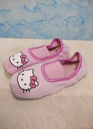 Чешки детские розовые hello kitty