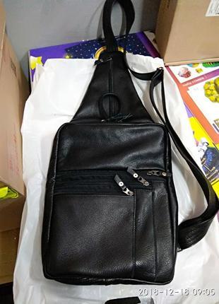 Кожаная сумка через плечо