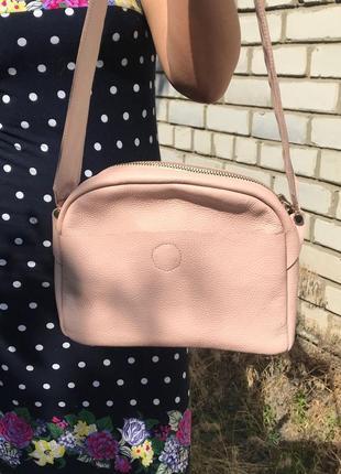 Кожаная стильная сумка кросс-боди