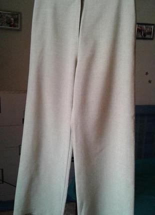 Прямые широкие брюки с высокой посадкой-стильно модно актуально