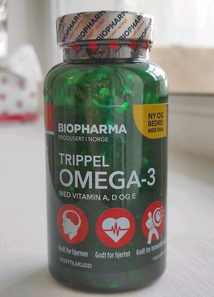 Omega-3, Biopharma, Норвегия (Омега - 3, рыбий жир)