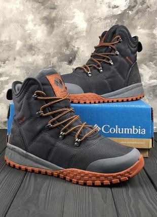 Мужские зимние кроссовки columbia fairbanks omni-heat graphite...