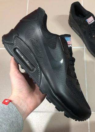 Мужские кроссовки nike air max 90 hyperfuse usa flag black