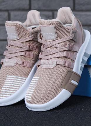 Женские кроссовки adidas eqt bask adv beige pink (арт. 11619)