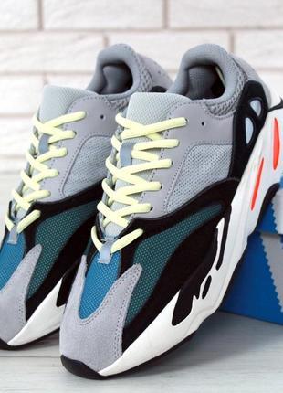 Женские кроссовки adidas yeezy boost 700 wave runner solid gre...