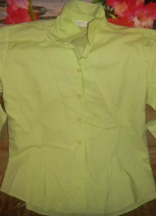 Identic  ярко-салатовая женская рубашка,блузка женская р l на ...