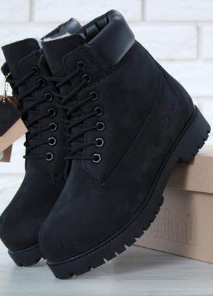 👢 женские ботинки timberland black (арт. 11332) 👢