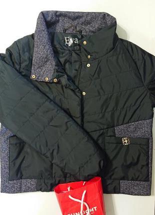 Куртка деми женская большой размер к55