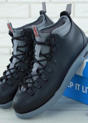 Мужские ботинки native fitzsimmons black grey