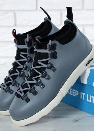 Мужские ботинки native fitzsimmons grey white
