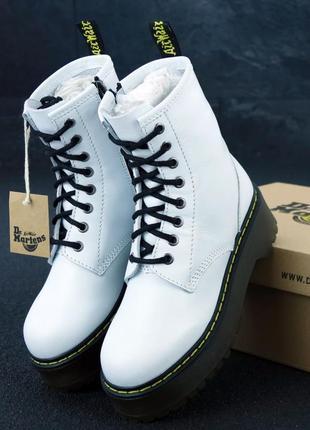 Женские ботинки dr. martens jadon white без меха