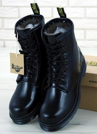 👢❄ женские зимние ботинки dr. martens 1460 mono иск. мех (арт....