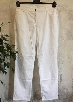 Белые брюки, штаны, джинсы, большой размер, хлопок+эластан