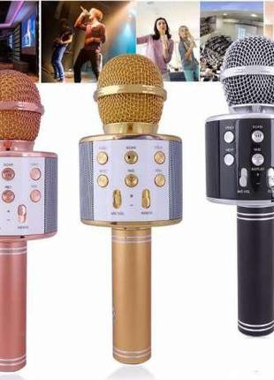Портативный Bluetooth караоке микрофон с динамиком (3 цвета)