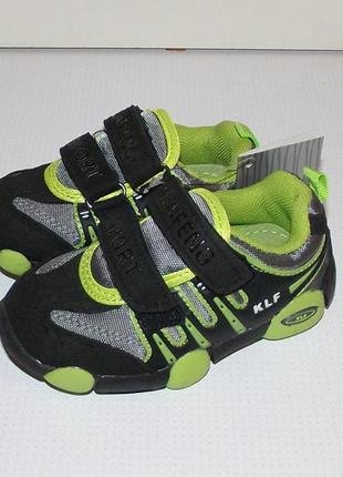 Кроссовки для мальчиков черный плюс грин 21 - 24