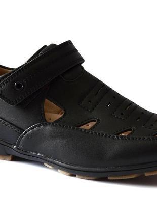 Туфли для мальчиков черные летние том.м 37р